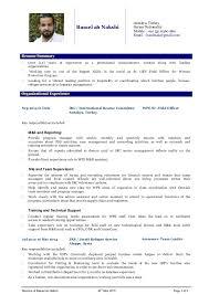 Resume Sample For Ngo Jobs