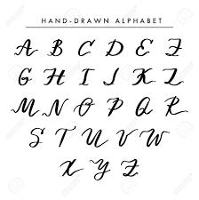 Designer Letters Ofthe Alphabet Hand Written Vector Alphabet Cursive Capital Letters For Logo