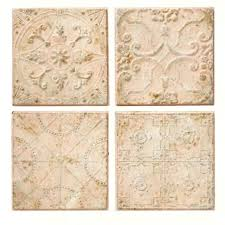 embossed tiles wall decor embossed tin ceiling tile wall decor set of 4 decorating tips for small spaces