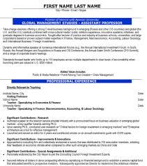 Assistant Professor Resume Sample & Template
