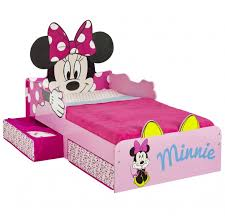 Minnie Mouse Snuggle Time Toddler Bed with storage Worlds Apart