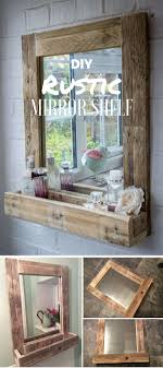 Check out the tutorial: #DIY Rustic Mirror Shelf @istandarddesign More