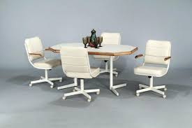 white chair with wheels cool dining room chairs with wheels incredible kitchen table inside kitchen table