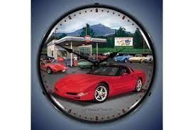 C5 Corvette Lighted Clock Corvette Clock Corvette Gas Station