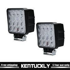 Security Lights For Cars Details About 2x 48w Black Led Work Light Flood Truck Driving Fog Lamp Square 4wd Boat Lights
