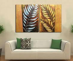 handpainted 2 pieces canvas art abstract metal wall silver tree leaf oil painting modern home decoration on silver metal wall art trees with handpainted 2 pieces canvas art abstract metal wall silver tree leaf