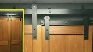 Bypass Barn Door Hardware Goldberg Brothers Bypass Barn Door Track Youtube