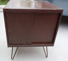 record album storage furniture. mid century modern wood record storage cabinet table whair pin legs album furniture