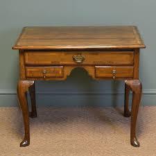 georgian oak cross banded antique low boy side table