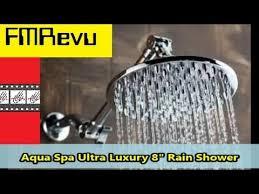 how to install shower head aqua spa ultra luxury 8 rain shower diy home renovation project you