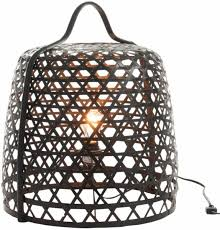 Bolcom Duverger Bamboo Light Vloerlamp Cilinder Bamboe Zwart