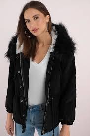 sa sage crisp nights black corduroy faux fur coat