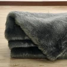 gray faux fur rug gray faux fur gray faux fur rug black