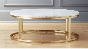 smart round marble brass coffee table reviews cb2 in oval plans 4