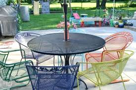 i love the multi colored chairs its amazing how an old metal patio set outdoor chair