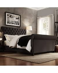 tufted upholstered sleigh bed. Interesting Sleigh Weston Home Ellesmere Tufted Upholstered Sleigh Bed And