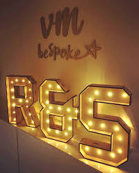 Battery Powered Light Up Letters Large Standing Light Up Initials 3 Pieces Battery Powered