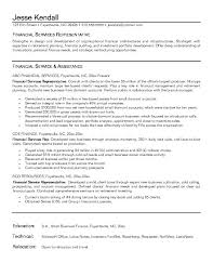 financial rep resume financial services representative customer services representative resume