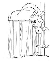 Small Picture Coloring Pages Of Horse Stable Coloring Pages