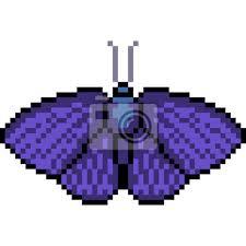 Remember to turn off the grid to view your artwork without the guides! Papillon De Pixel Art Vectoriel Papier Peint Papiers Peints Pixel Ailier Papillon De Nuit Myloview Fr