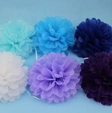 Crepe Paper Flower Balls 30pcs Pompons Tissue Paper Pom Poms Flowers Paper Balls