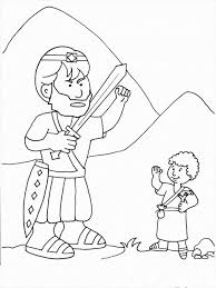 David And Goliath Coloring Pages Picture 11 Free Printable David