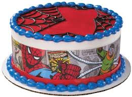 Amazoncom Spiderman Comic Edible Cake Border Decoration Toys Games