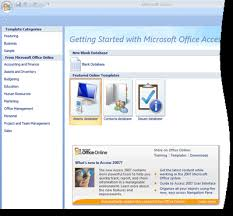 Microsoft Office 2007 Templates Download Guide To The Access 2007 Templates Access