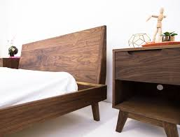 mid century modern king bed. Modern Bed, Walnut Midcentury King Queen Size Platform Bed The Bosco Our Take On A One Of Most Used (but Often Mid Century 4