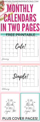Monthly Planner Free Download 2020 Monthly Calendar Two Page Spread Free Printable