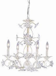 4 lights antique white crystal chandelier