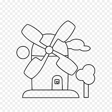 Netherlands Drawing Windmill Kleurplaat Oud