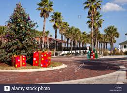 Christmas tree at vero beach florida Stock Photo, Royalty Free ...