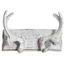 Antler Coat Rack Clearance Custom Amazon Comfify Vintage Cast Iron Deer Antlers Wall Hooks By