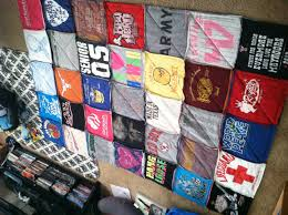 T-shirt quilt made with a bunch of my old shirts! I used the rag ... & T-shirt quilt made with a bunch of my old shirts! I used the rag quilting  technique & it was very quick and easy! Especially for those old shirts the  hubby ... Adamdwight.com