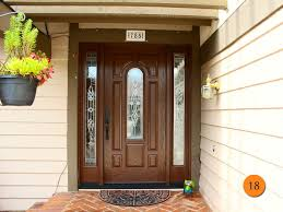 traditional fiberglass single 36x80 36 inch wide front entry door with 2 sidelights