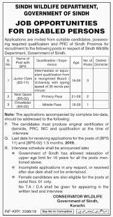 6 New Sindh Wildlife Department Government Of Sindh Job