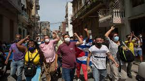 Demonstrators in Cuba protest food ...