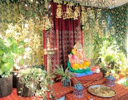 Do you need tips for how to decorate your home? Diy Ganpati Decoration With Sarees Bangles One Brick At A Time