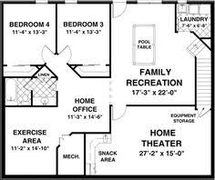 floor plans with basement. Lower Floor Plan Of House 93480 Plans With Basement