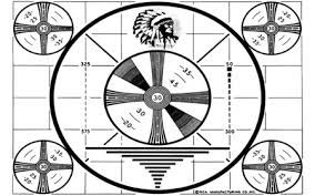 Indian Head Test Pattern Simple Indian Head TV Test Pattern 48D And CG Abstract Background