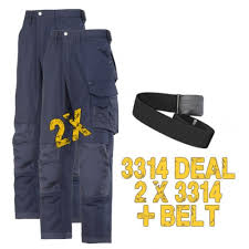Snickers Trousers Size Chart Snickers Workwear 3314 Deal 1 2 X 3314 Trousers Plus A Belt