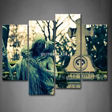 christian statue and cross 4 piece painting on canvas wall art print the picture religion 3 5 pictures in painting calligraphy from home garden on  on religious wall art canvas with christian statue and cross 4 piece painting on canvas wall art print