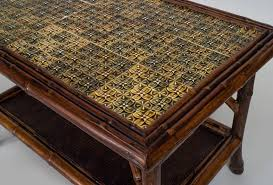 ... 19th Century English Bamboo Tile Top Coffee Table For Sale At 1stdibs  Uk 0301 Tile Top ...