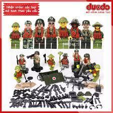 Đóng túi] Combo quân đội Việt Nam và đế quốc Mỹ - Đồ chơi Lắp ghép Xếp hình  Mini Minifigures lính Army WW2 D71010