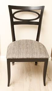 arhaus furniture round cherry dining table and four chairs arhaus dining room table and chairs