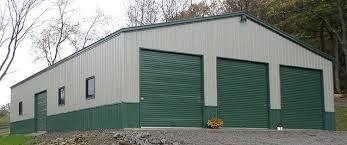 50x80 metal building with 14 leg side height 3 12x12 garage doors 9x8