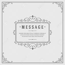 Box Frame Design Vintage Ornament Quote Marks Box Frame Vector Template Design