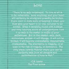 Cs Lewis Love Quotes Classy Cs Lewis On Love Quotes On QuotesTopics