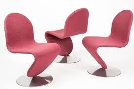 set of seven 1 2 3 system chairs verner panton fritz hansen at